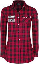 Rutig skjorta med patchar