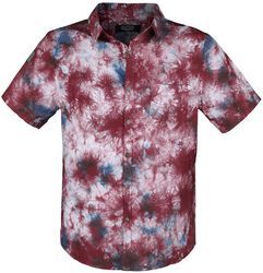 Kortärmad skjorta med färggrannt batikmönster