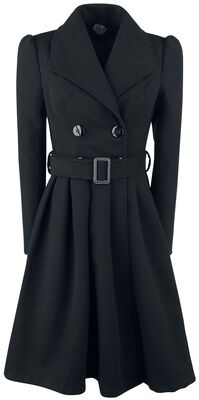 Black Vintage Swing Coat