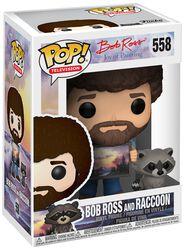 The Joy of Painting - Bob Ross and Raccoon (Chase-möjlighet) vinylfigur 558