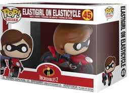 2 - Elastigirl on Elasticycle vinylfigur 45