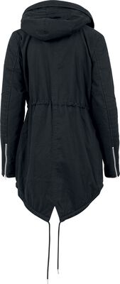 Ladies Sherpa Lined Cotton Parka