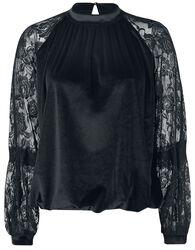 Velvet Lace Mix Sweater