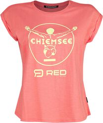 RED X CHIEMSEE - Rosa topp med tryck