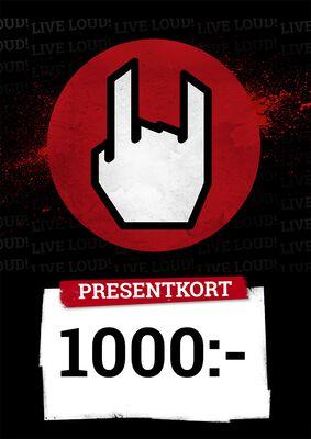Presentkort 1000,00 SEK