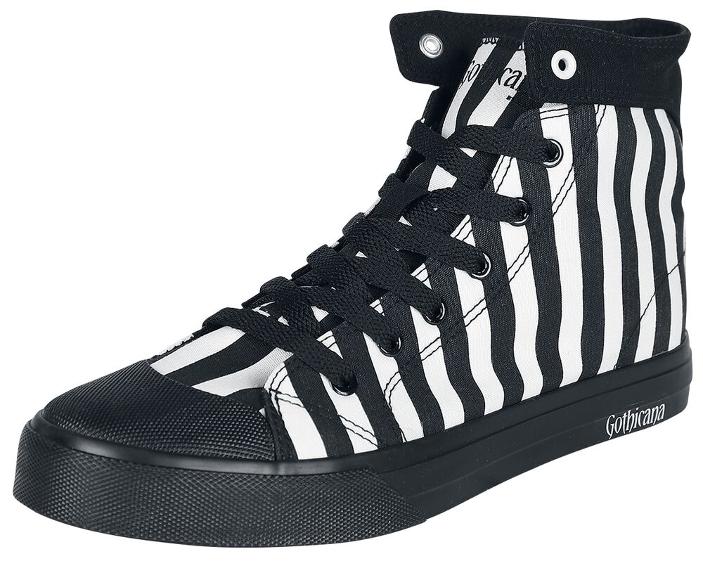 Svart/vit-randiga sneakers