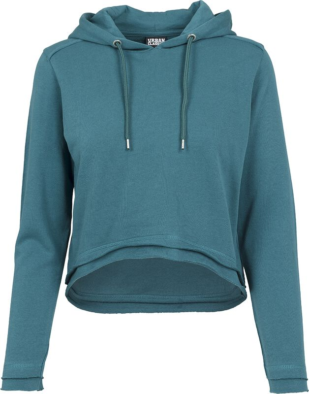 Ladies Cropped Terry Hoody