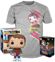 Marty with Hoverboard - POP! & Tee