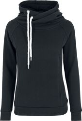 Ladies Raglan High Neck Hoodie