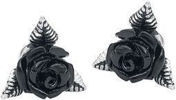 Black Rose Ear Studs