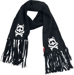 Scarf With Cats and Bones