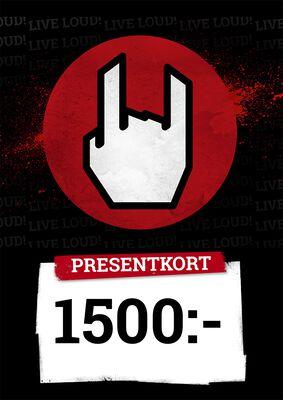 Presentkort 1500,00 SEK