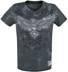 T-shirt with print and V-neck