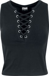Ladies Lace Up Cropped Top