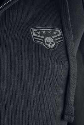 Hooded Jacket with Patch Details