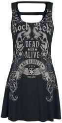 Rock Rebel - Kort klänning med tryck och cutouts
