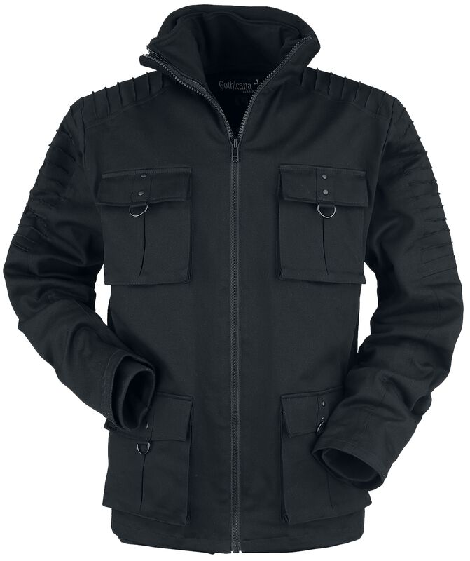 Winter Jacket with Flap Pockets with Decorative Seams