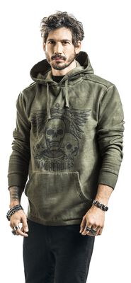 Hooded Jumper with Prints