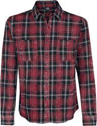 Rutig skjorta med blektvätt