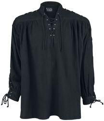 Medeltida skjorta med snörning och öljetter