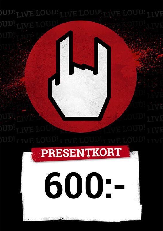 Presentkort 600,00 SEK