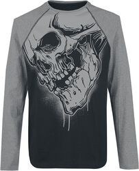 Raglan Longsleeve With Skullprint