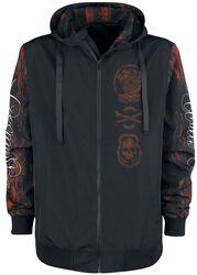 Mid-season jacket with prints