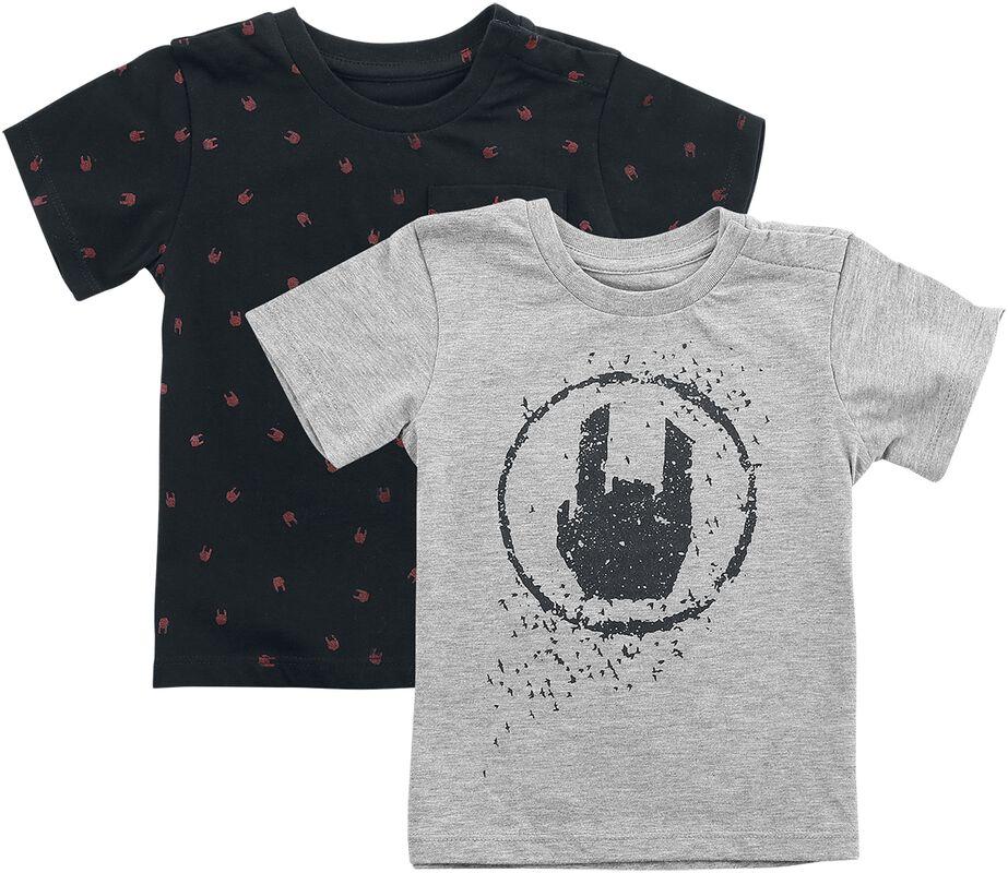 Svart/grå T-shirt dubbelpack