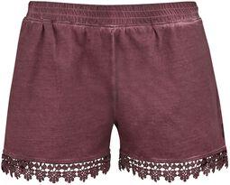Hotpants med spets Black Premium