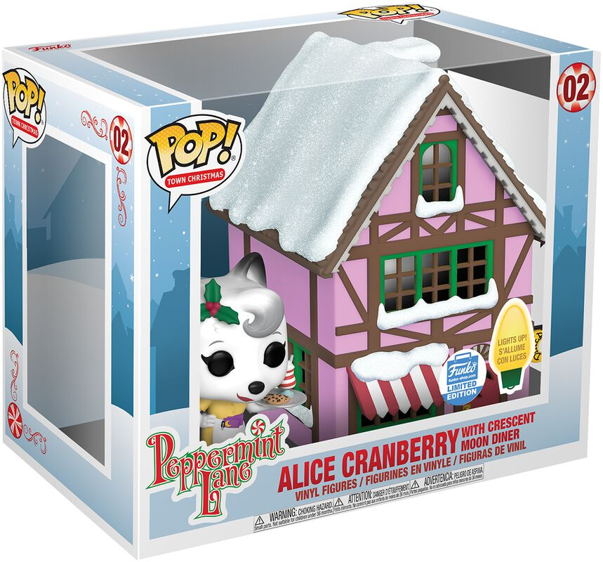 Peppermint Lane - Alice Cranberry with Crescent Moon Diner (Pop! Town) (Funko Shop Europe) vinylfigur 02
