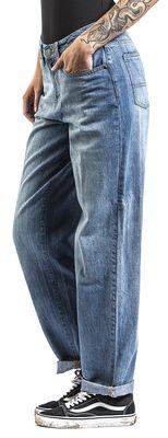 Ladies High Waist Straight Jeans