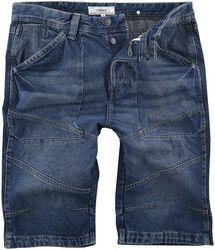 Long Blue Denim Shorts