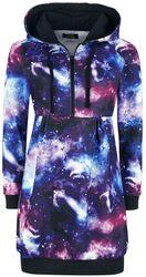 Klänning med galaxtryck