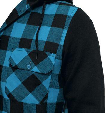 Flanellskjorta med luva