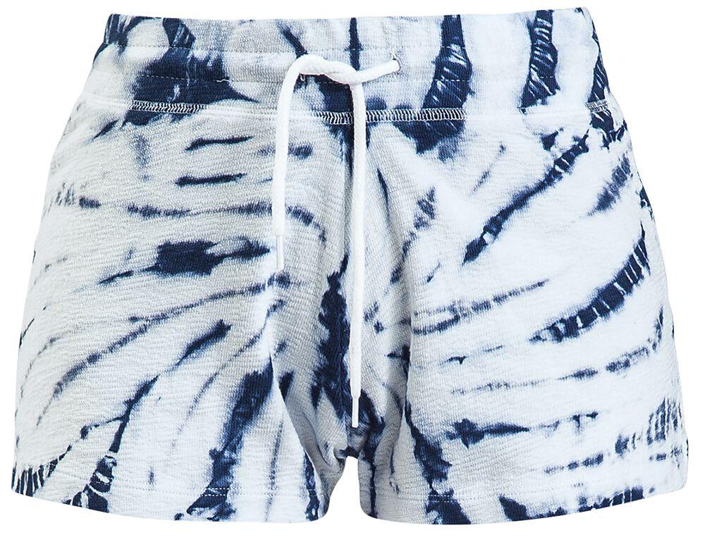 Blå/vita batikshorts