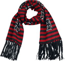 Striped Scarf With Crosses
