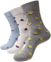 Recycled Yarn Fruit Socks 3-Pack