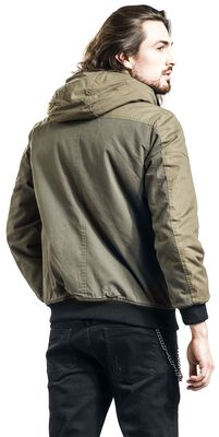 Olive Winter Jacket with Pockets